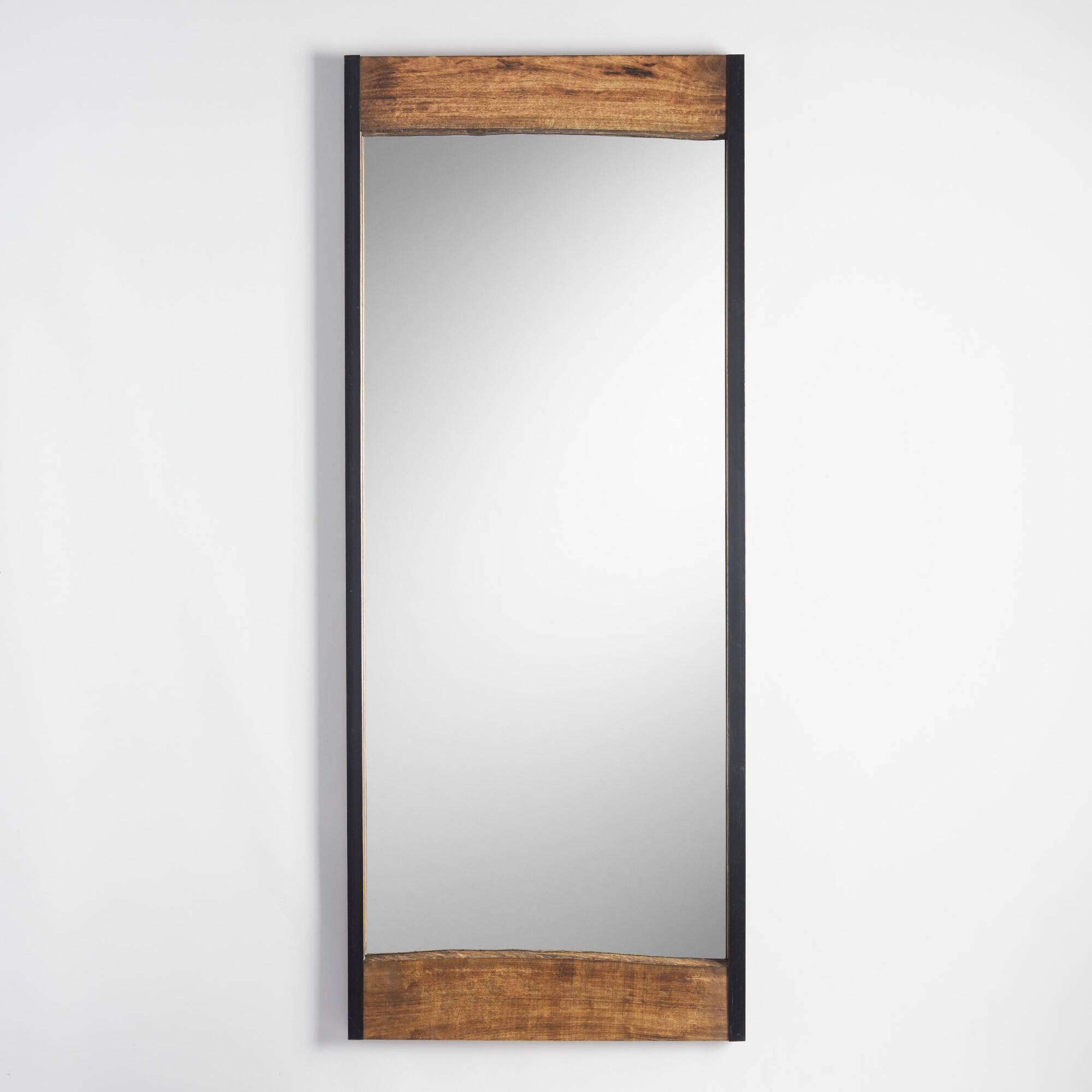 Make a rustic statement with our leaning floor mirror, handcrafted ...