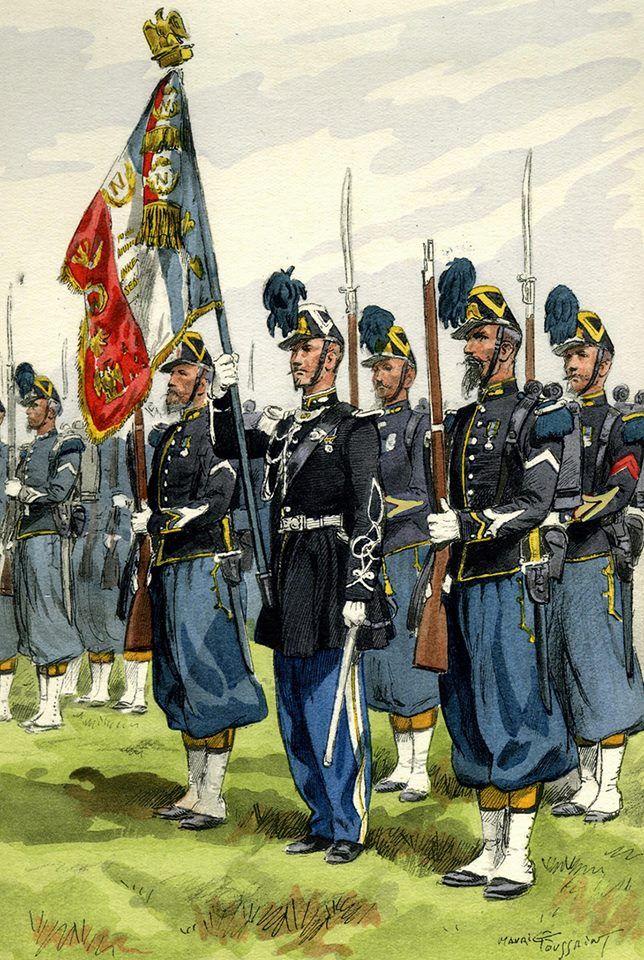 Les Chasseurs à pied de la Garde Impériale, Second Empire by Maurice Toussaint