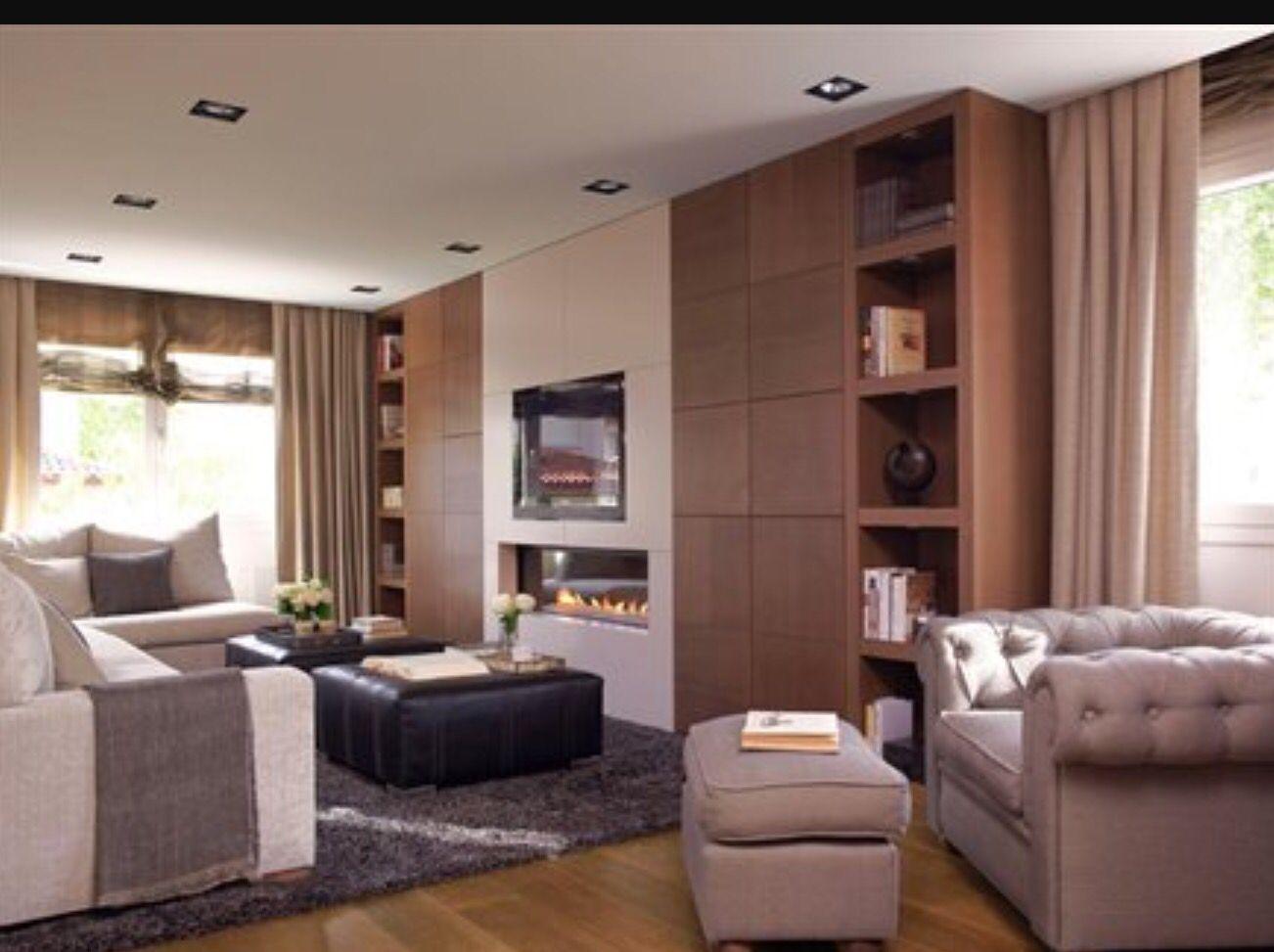 Tv chimenea integrados mueble tv y chimenea pinterest - Muebles de chimenea ...