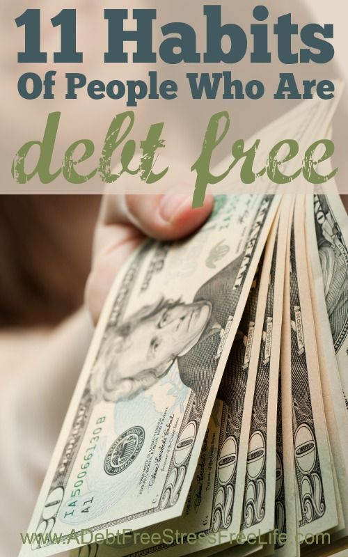 Ever wonder the habits of people who are debt free? They are specific and important if you want to get out of debt. Learn how to adopt these habits too.