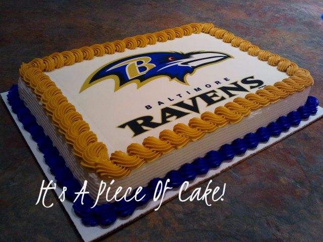 Astonishing Ravens Sheet Cake S Facebook Com Itsapieceofcakewv Birthday Cards Printable Opercafe Filternl