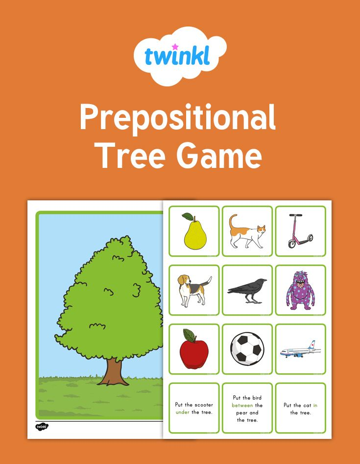 Prepositional Tree Game A Tree Themed Prepositions Instructions