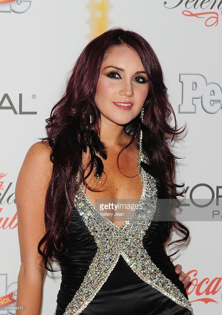 Dulce Maria arrives at Premios People en Espanol 2010 event at Cafeina Lounge on December 9, 2010 in Miami, Florida.