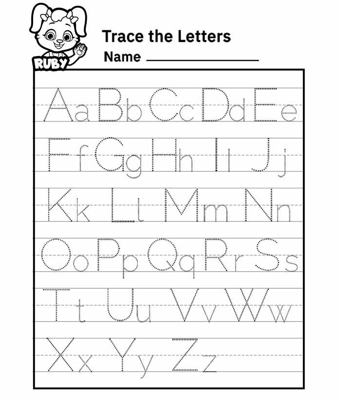 free printable preschool worksheets tracing letters ...