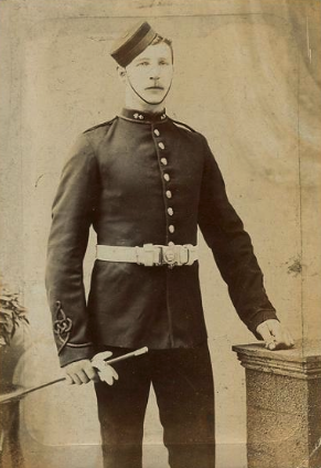 Royal Artillery Gunner In Undress Uniform With Pillbox Forage Cap 1900 Vintage Military Military History Crimean War