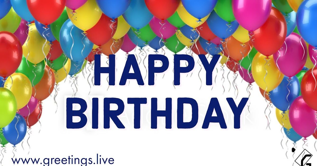 Happy birthday Wishes with Colourful Balloons | Greetings Live
