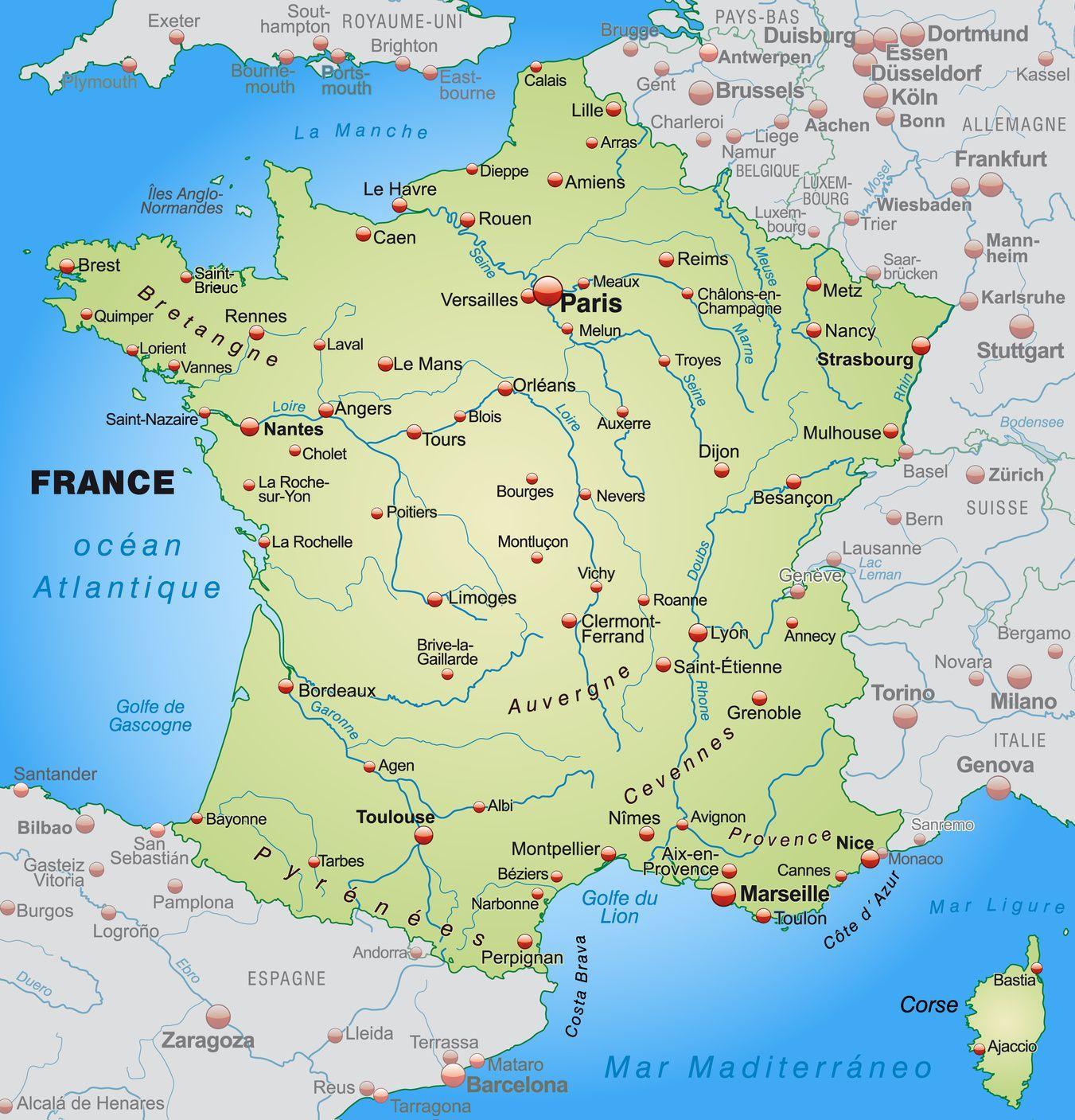 carte de france ville