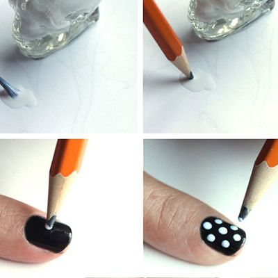 Let's finish off this list with an easy one, shall we? I love this one! Anything monochrome is my cup of tea. This black and white polka dots nail art is another cute one which can be achieved with minimal effort. #nails #nailsart #nailart #nailarts #nailpro #nailartist #nailartaddict #nailartclub #nailartlovers #nailartlove #nailartwow