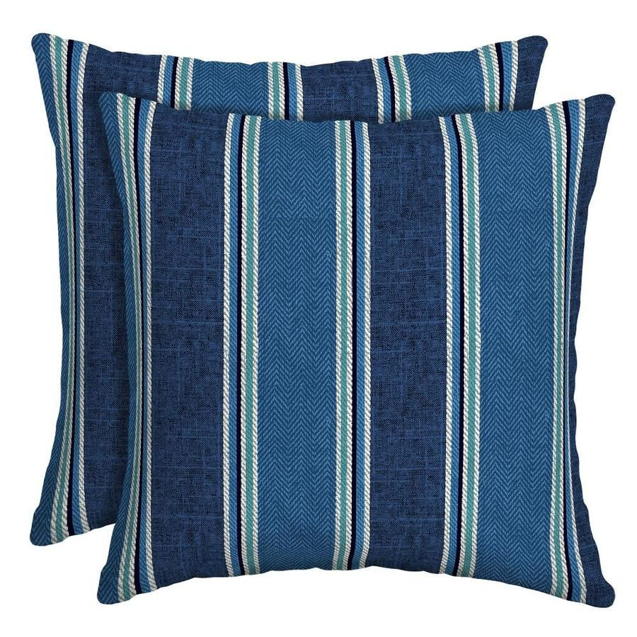 Allen Roth Striped Square Throw Pillow Outdoor Places Spaces