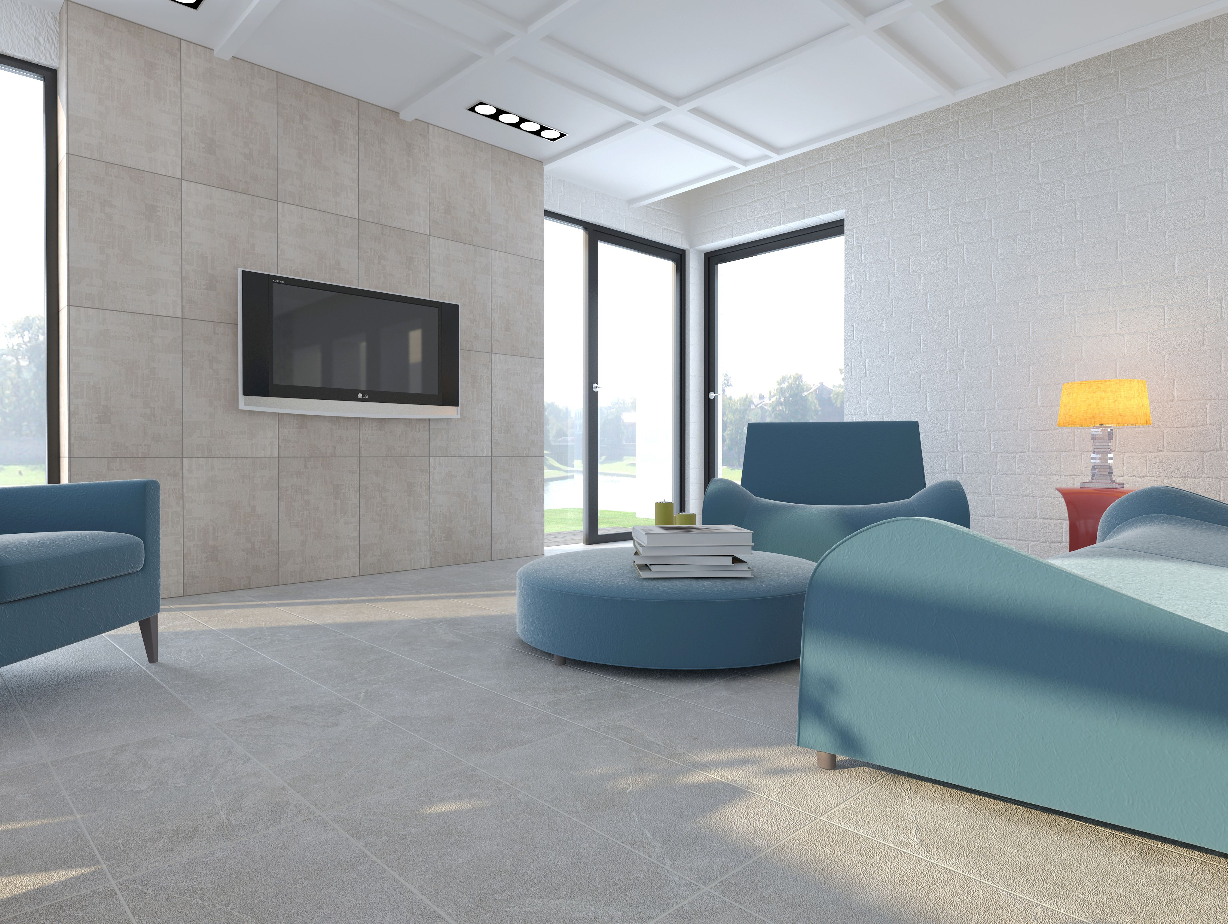 Interceramic trio pietra glazed porcelain floor tile for Porcelanato interceramic