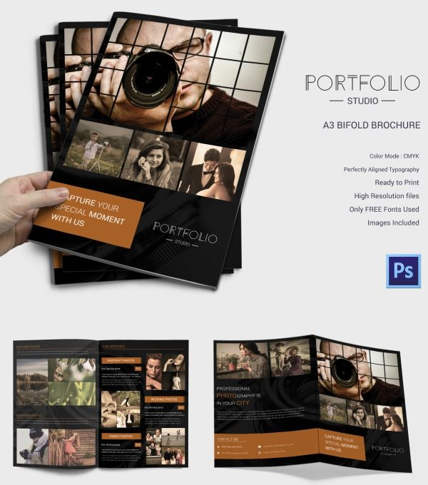 Premium Bifold Photography Brochure Template Brochure Designs - Photography brochure templates