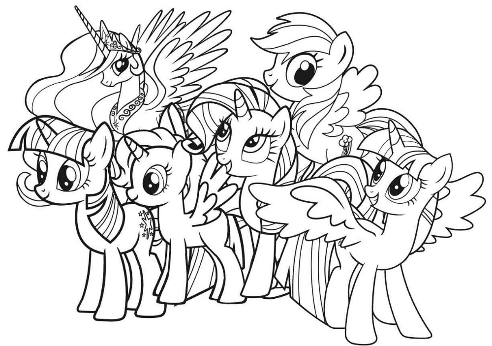 Gambar Mewarnai Kartun My Little Pony Kreasi Warna My Little Pony Warna Buku Mewarnai