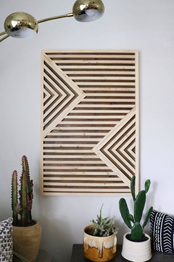 Wood Wall Art Rustic Wood Art reclaimed wood art Geometric | Etsy #woodart