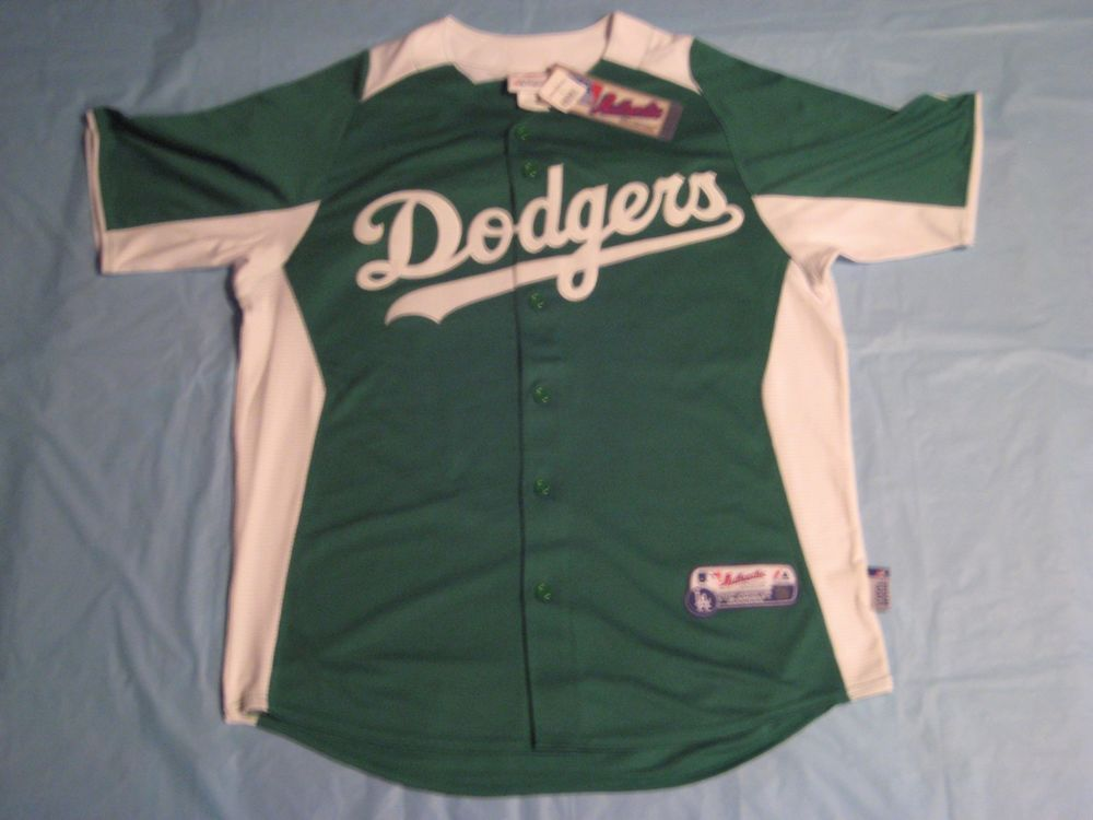 Majestic MLB Authentic Los Angeles Dodgers St Patrick s Day Jersey Cool  Base L  Majestic  LosAngelesDodgers 8cfe8cdd2ef