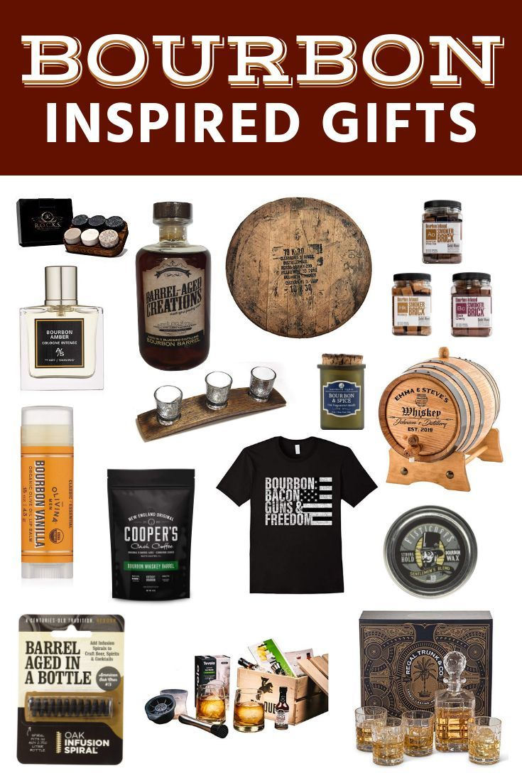 Bourbon inspired gifts for men barrel aged creations