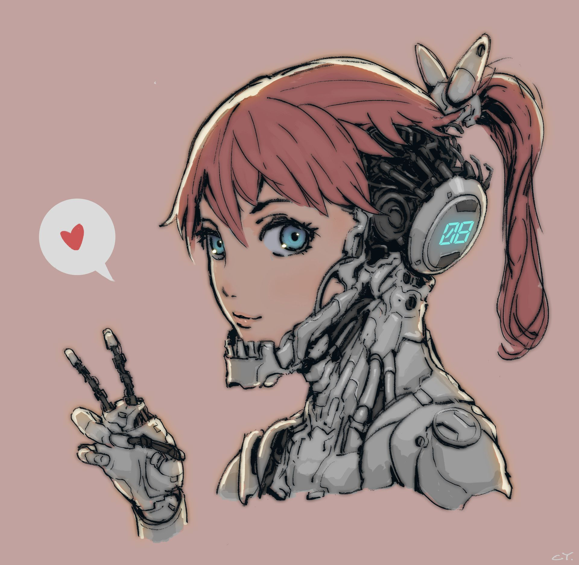 Artstation Cyborg Girl Ching Yeh Cyborg Girl Cyborg Anime