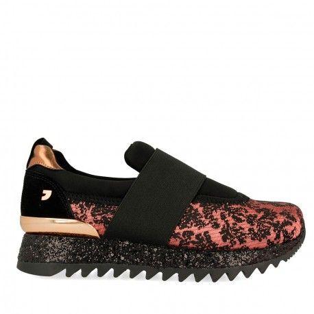 La Modeuse - Zapatillas de deporte para mujer multicolor leopardo 42 rmBaJ2eN