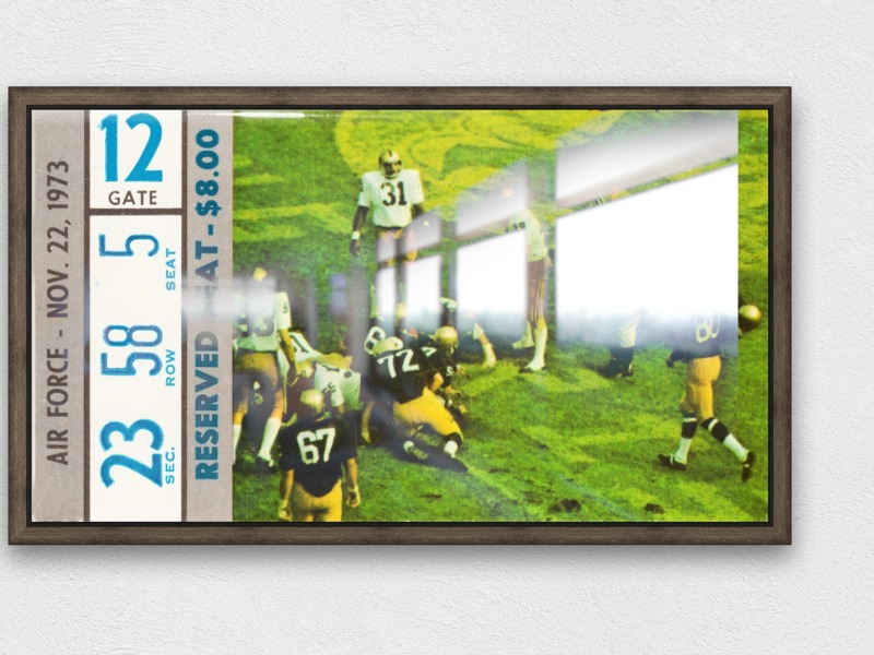 1973 Notre Dame vs. Air Force Row One Brand Canvas