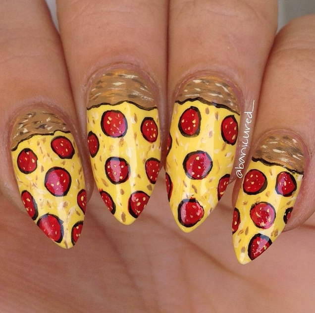 Pizza Nails | Nails | Pinterest | Pizzas, Manicure and Nail manicure