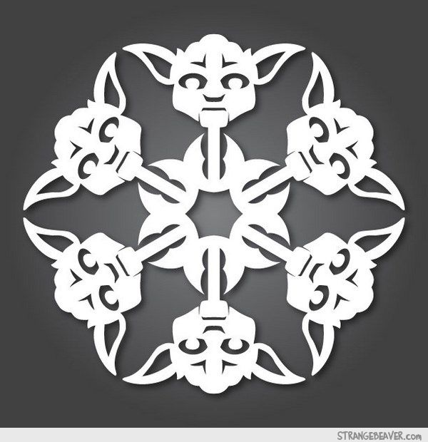 Diy Star Wars Snowflakes Paper Crafts Pinterest Star Wars