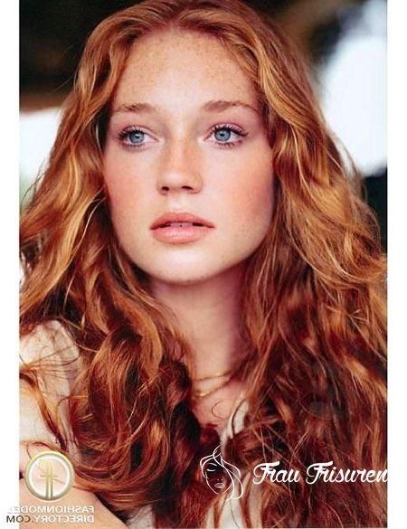 30 lange lockige rote frisuren | bunte haare, frisur rot