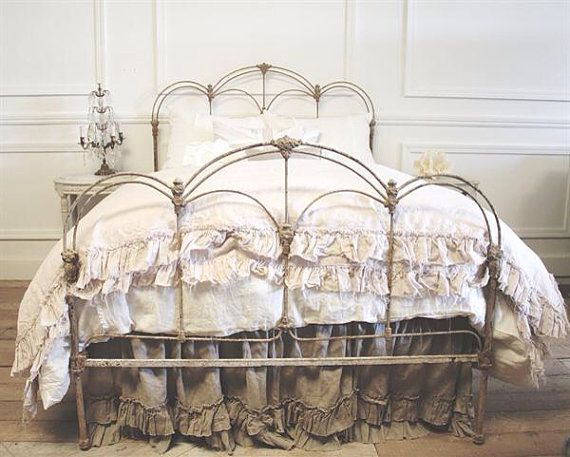 Antique Carissa Iron Bed C1880s By FullBloomCottage On