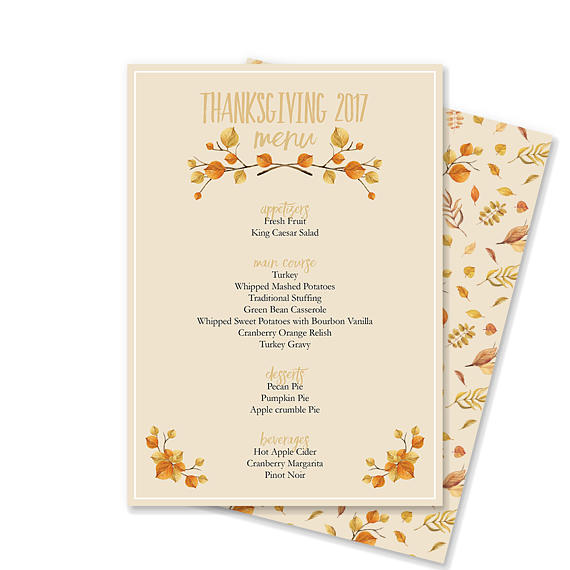 This Microsoft Word template makes creating your Thanksgiving menu - creating an invitation in word