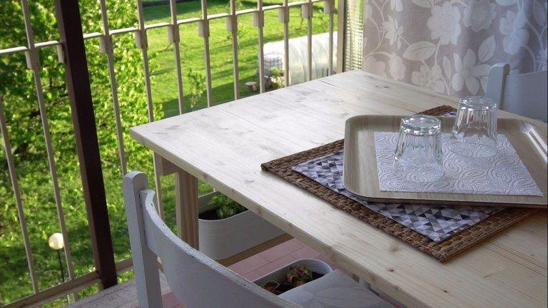 Come realizzare un tavolo apri e chiudi per il balcone ...