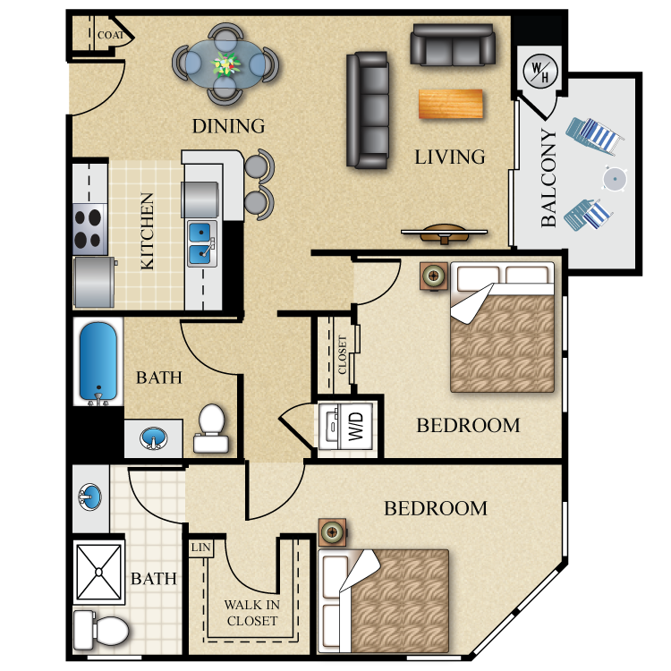 Whirlpool Apartment Size Washer And Dryer: Availability, Floor Plans & Pricing PLAN D