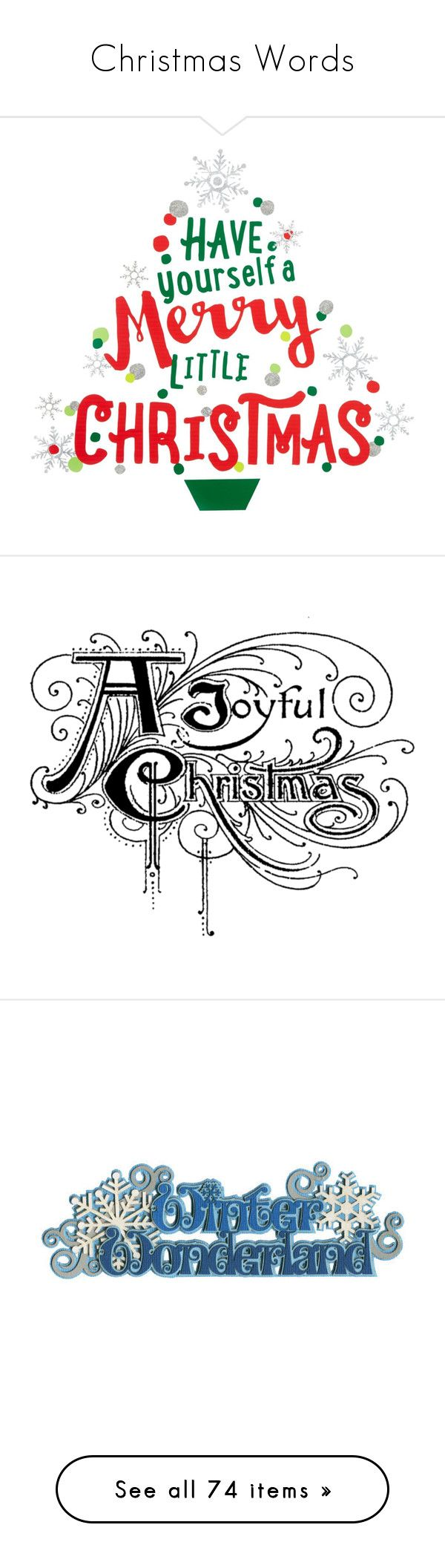 christmas words by judymjohnson liked on polyvore featuring home home decor
