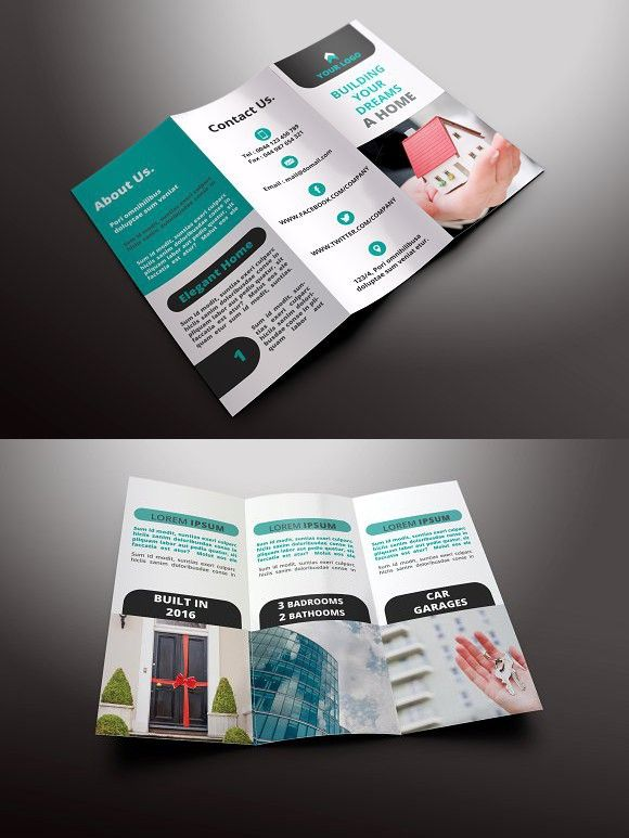 Real Estate Tri-fold Brochures Brochure Infographic Brochure