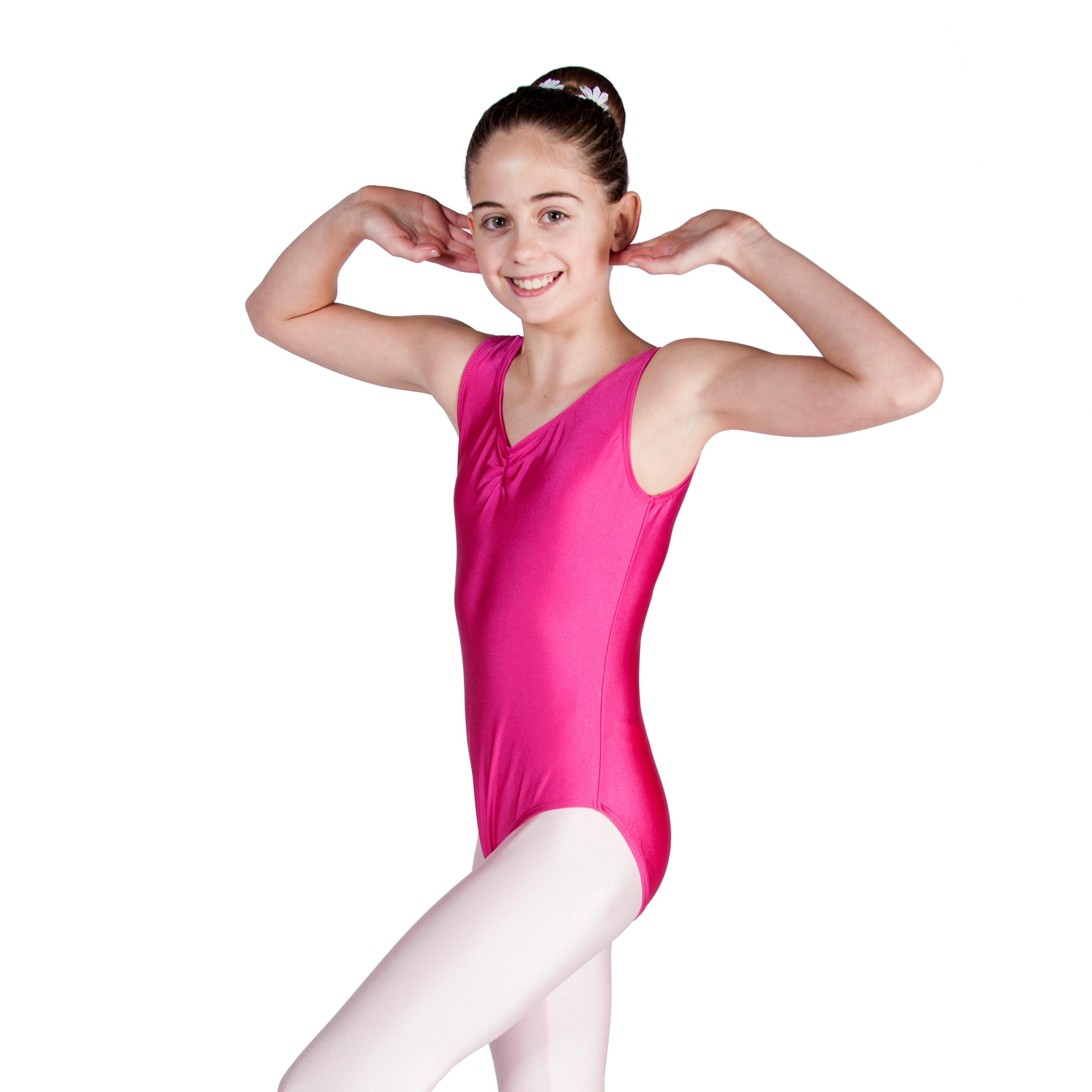 GIRLS//LADIES LAUREN BALLET LEOTARD NYLON LYCRA SLEEVELESS DANCE LEOTARD