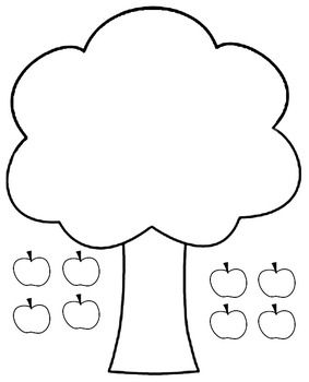 This Page Allows Kids To Practice Cutting And Pasting The Apples On Apple Tree Also