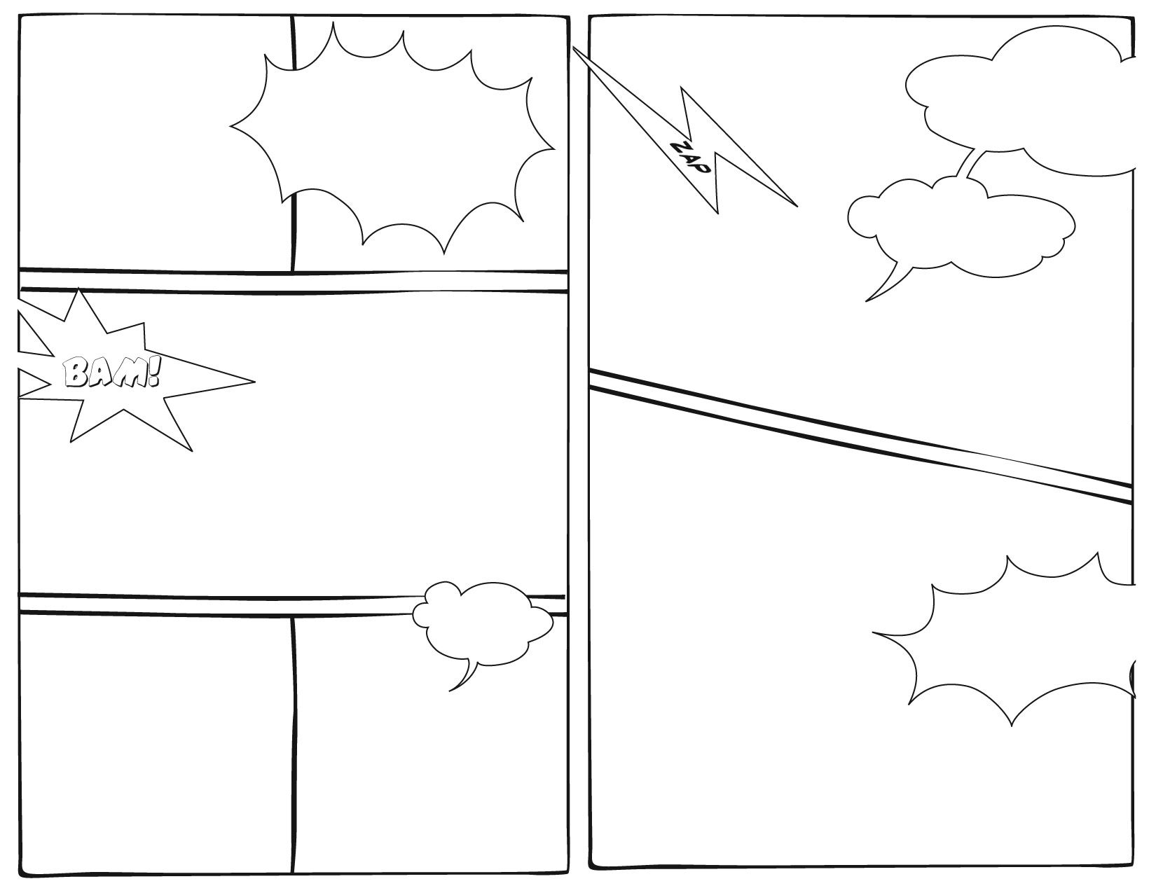The blank is a fictional character that appears in comic for Comic strip template maker