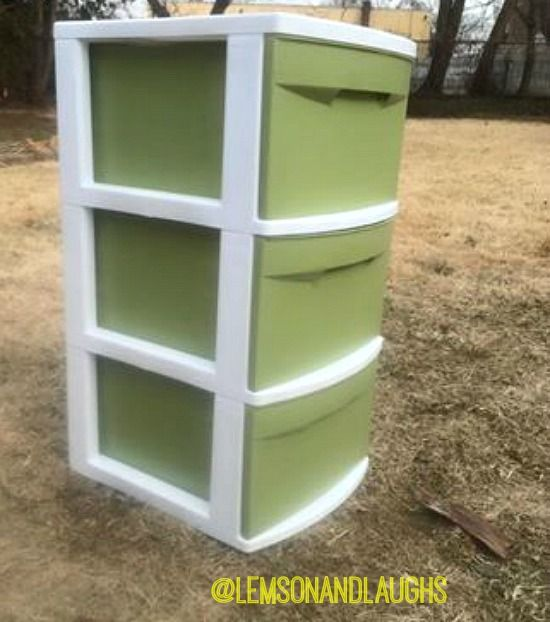Plastic Drawer Makeover Lemons And Laughs Plastic Drawer Makeover Painting Plastic Bins Plastic Drawers