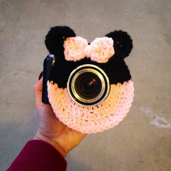 Camera lens buddy.  Crochet camera critter minnie by mandag433 #crochetcamera Camera lens buddy.  Crochet camera critter minnie by mandag433 #crochetcamera Camera lens buddy.  Crochet camera critter minnie by mandag433 #crochetcamera Camera lens buddy.  Crochet camera critter minnie by mandag433 #crochetcamera