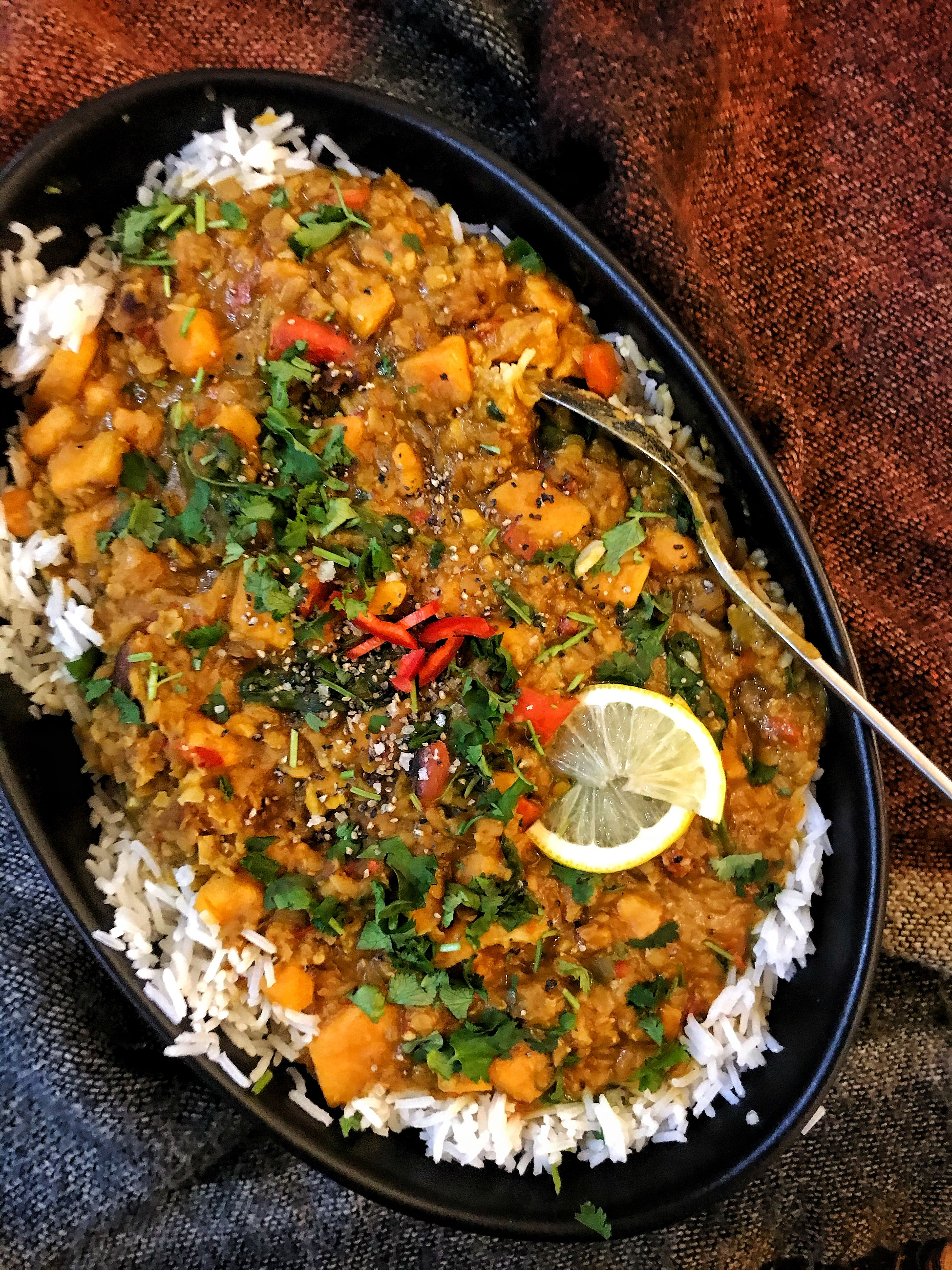 Sweet potato and coconut curry - The Slimming Food