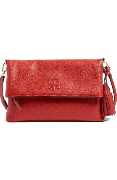41b7edab50fa Tory Burch  Thea  Leather Foldover Crossbody Bag available at  Nordstrom