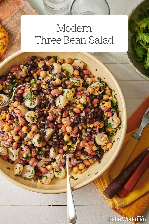 Modern Three Bean Salad Recipe In 2020 Bean Salad Recipes Three Bean Salad Potluck Side Dishes