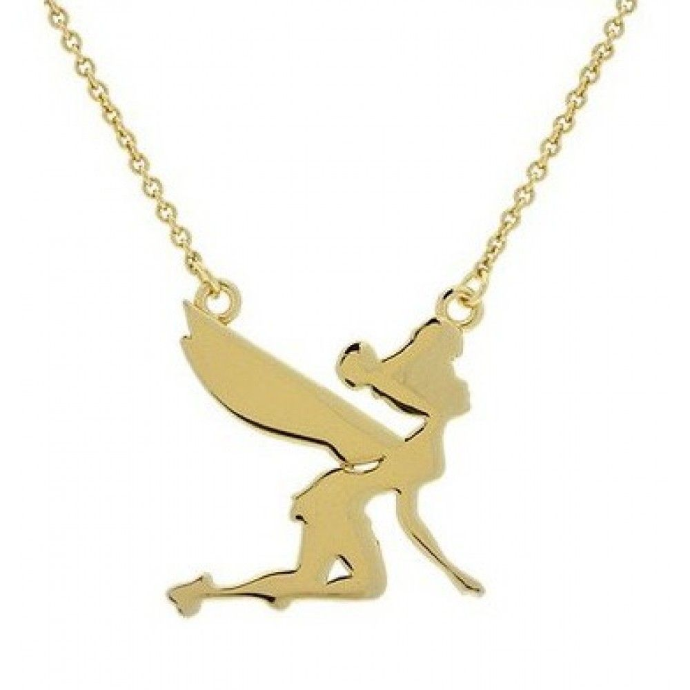 Disney couture classic gold plated flying tinkerbell necklace at disney couture classic gold plated flying tinkerbell necklace at zentosa aloadofball Images