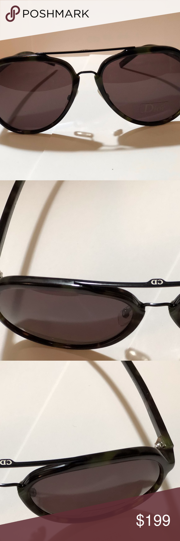 a63461f5c0ec7 DIOR HOMME Black Tie 122S DIOR HOMME Black Tie 122S -Dark Havana Aviator  MADE IN ITALY Christian Dior Accessories Sunglasses