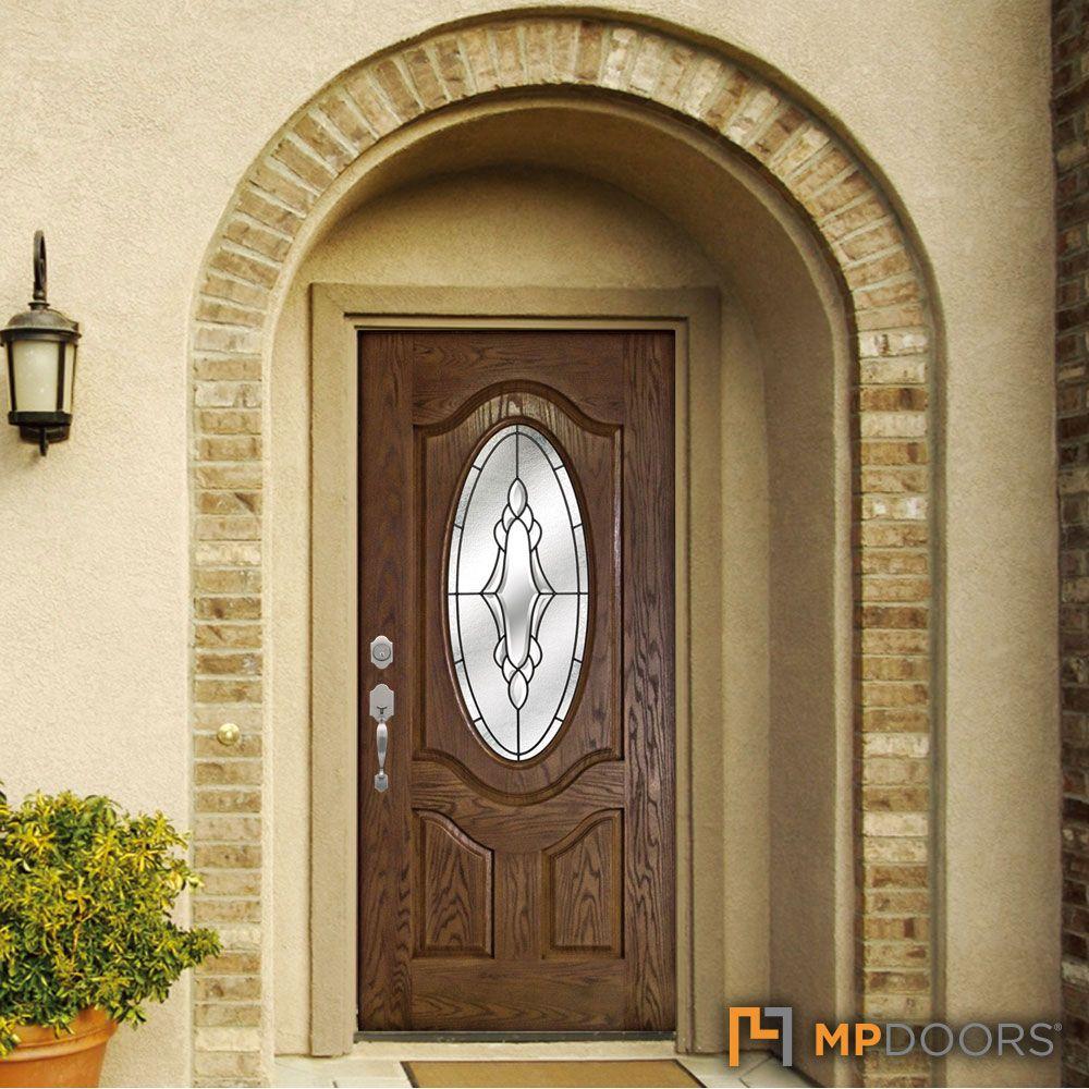 Mp Doors 36 In X 80 In Andaman Medium Oak Right Hand Inswing 3 4 Oval Lite Decorative Fiberglass Prehung Front Door N3068r3hadk24 The Home Depot Entry Door Designs Fiberglass Entry Doors Front Door
