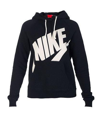 black and white nike hoodie