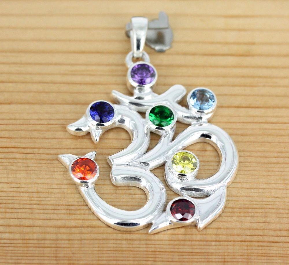 Details zu Anhänger Silber Zirkonia - Om - Kraft Symbol Schutz ...