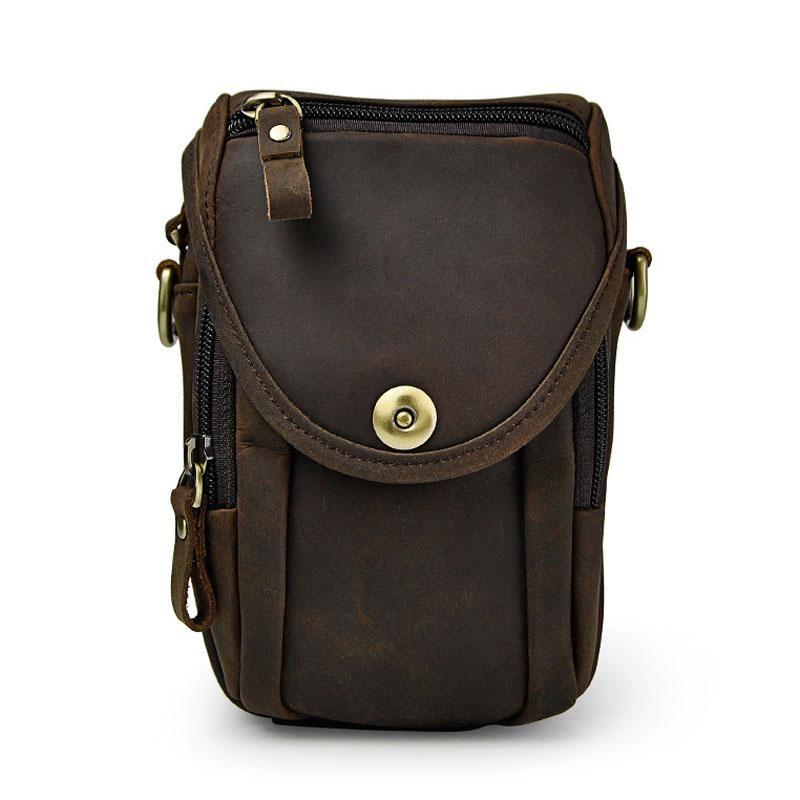 af41f956f6e Leather Cell Phone Holster Belt Pouch for Men Waist Bags BELT BAG ...