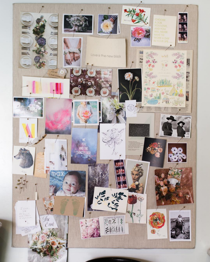 Need inspiration for the new year? Here are ideas for an inspiration board.