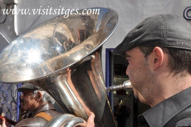 Musica en las calles de Sitges con el Festival de Jazz Antic de Sitges 2013