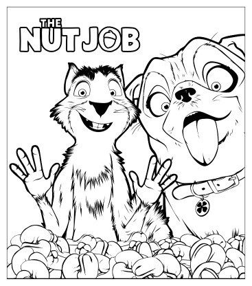 printable the nut job coloring page animation series coloring and