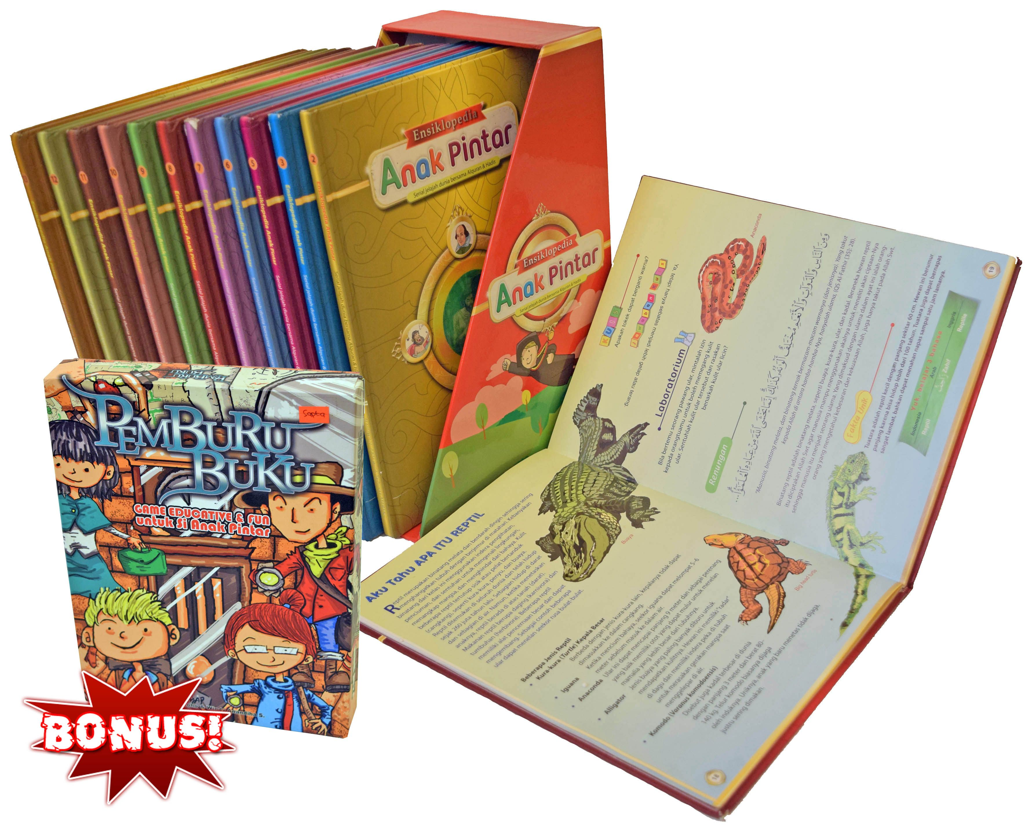 Paket Buku Ensiklopedia Anak Pintar 13 Jilid Dengan Gambar