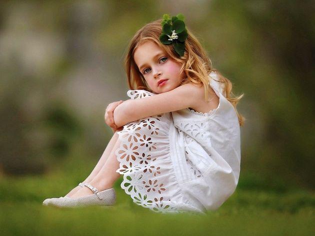 Обои Девочка в кружевном платье | Милые обои, Фотографии ...